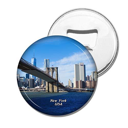 Weekino Brücke Manhattan New York Amerikas USA Brooklyn Bier Flaschenöffner Kühlschrank Magnet Metall Souvenir Reise Gift
