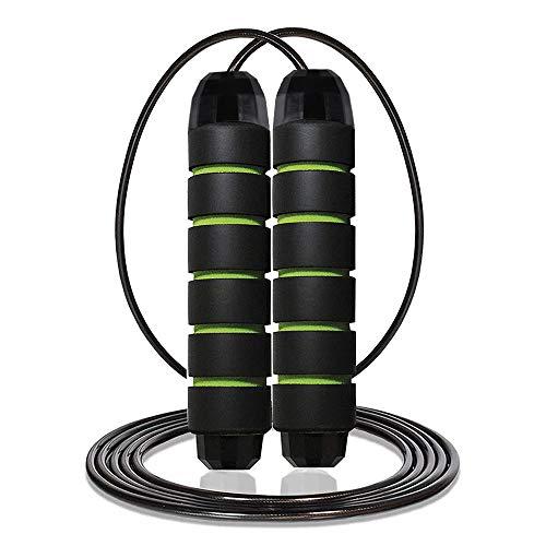 AUTOWT Cuerda para saltar ajustable, sin enredos Tiras de espuma de memoria de 6 'con rodamientos de bolas Cuerdas de saltar largas y rápidas de Crossfit para ejercicios...