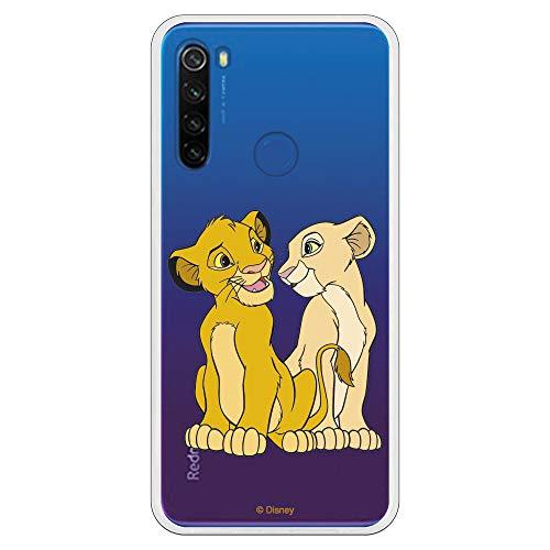 Funda para Xiaomi Redmi Note 8T Oficial de El Rey León Simba y Nala Silueta para Proteger tu móvil. Carcasa para Xiaomi de...