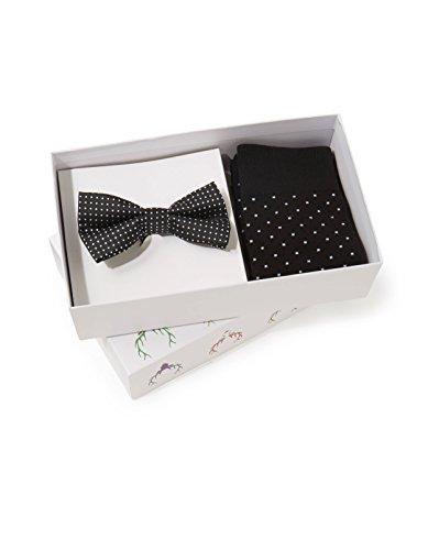 Celio Herren + Bow Tie Krawatte, schwarz, one size