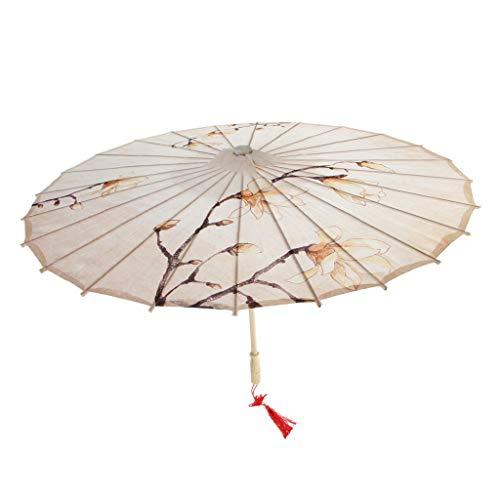 D DOLITY Retro Papierschirm Regenschirm Sonnenschirm Tanz Schirm Deko Schirm, Klassischer Chinesischer Muster - 9