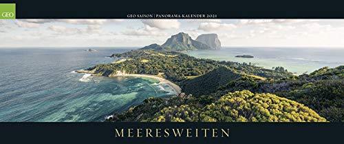 GEO SAISON Panorama: Meeresweiten 2021 - Panorama-Kalender - Wand-Kalender - Groß-Format - 120x50