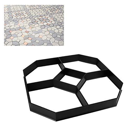 IDWT Walk Stone Maker, Molde de pavimentación de Bricolaje Molde Hexagonal de Piedra Paso a Paso Molde de hormigón Walk Maker para Patio del jardín
