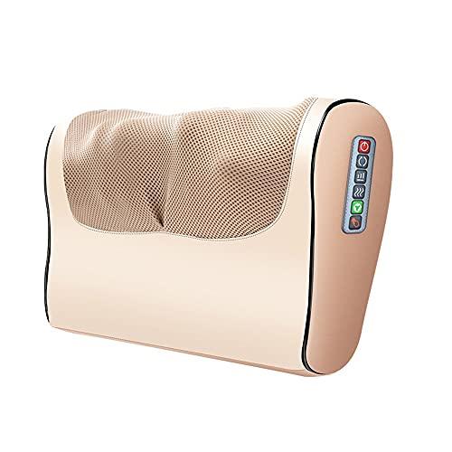 SHDream Masajeador de cuello, acupresión con cuello climatizado y masajeador trasero, almohada de masaje eléctrico con 12 nodos de masaje, usado para espalda, columna vertebral cervical, hombros, pies