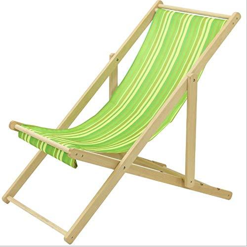 YANYUN Deckchair Holz,Tragbar Klappstuhl Strandliege Verstellbar Gartenliege Relaxsessel Für Terrasse Und Balkon Garten