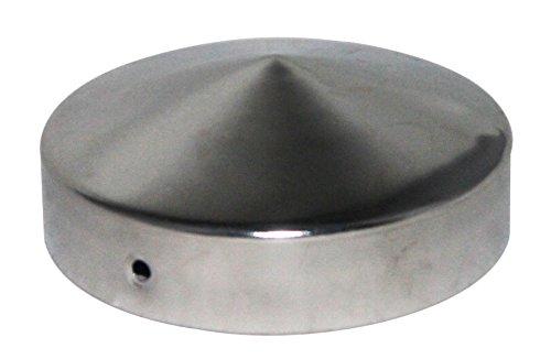 Pfostenkappe rund Edelstahl Pyramide für Rundpfosten 7 cm, inkl. VA-Schrauben