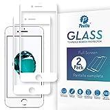 Pevita Protector de Pantalla Compatible con iPhone 7 Blanco/iPhone 8 Blanco [2 Packs] Full Screen. Sin Burbujas, Fácil Instalación. Cristal Templado iPhone 7 Blanco/iPhone 8 Blanco
