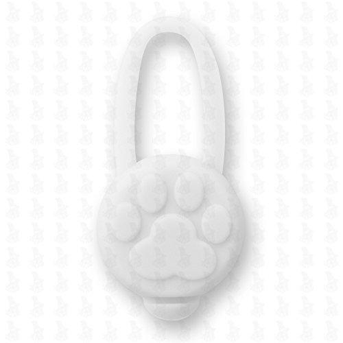 Hunde Leuchtanhänger Leuchthalsband Led Hundehalsband LH10 Blinkie von Leuchthund® Led Anhänger Silikon (weiss)