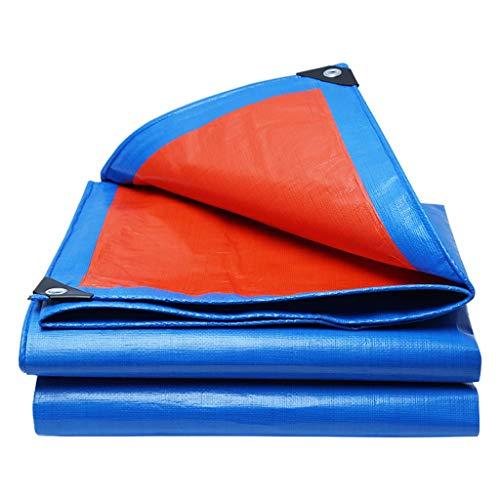 JDiled Abdeckplane Wasserdicht,Hochfestes PE-Material Einseitig Orange/Einseitig Blau 160 g/m² Viereck Mit Verzinkten Knopflöchern (größe : 4m*5m)