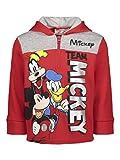 Disney Mickey Mouse Toddler Boys Fleece Half-Zip Pullover Hoodie 4T