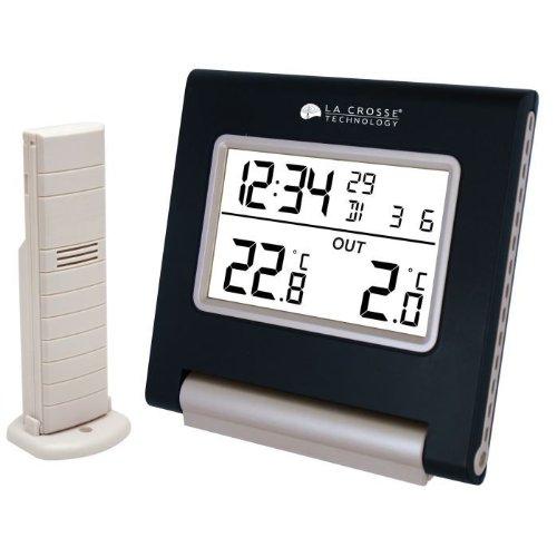 La Crosse Technology WS9090 Station de températures intérieur/extérieur - Noir
