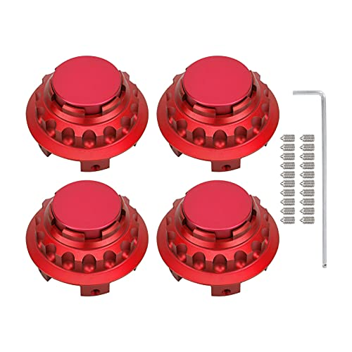 aqxreight Juego de 4 Tapas de Cubo de Centro de Rueda de Coche de aleación de Aluminio de 75 mm / 3 Pulgadas de Repuesto para A C E S SL SLK ML GL CLS GLA GLC GLK Class(Rojo)