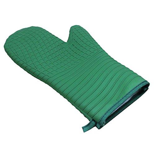 Dbtxwd Épaississement allongé silicagel four micro-ondes gants Double couche isolation anti-dérapants anti-dérapants gants (pack de 2)