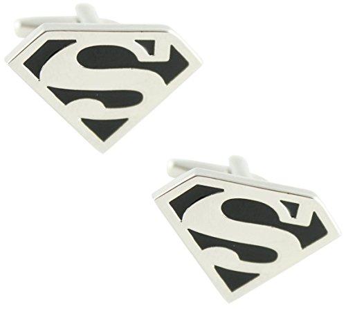 MasGemelos Boutons de manchette Superman Noir