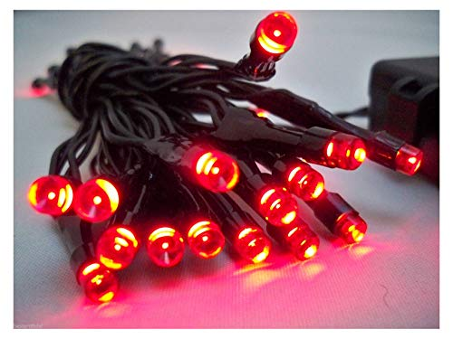 Best Artificial (TM) 30 Red LED Outdoor Battery 8 Multi-Function String Lights 3M Length Waterproof...