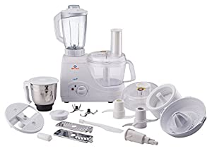 Its in-built locking mechanism ensure consumer safety, The twist and lock mechanism of the processing bowl have to be applied properly in-order to start the food processor 2 stainless steel jars Large capacity unbreakable polycarbonate processing bow...