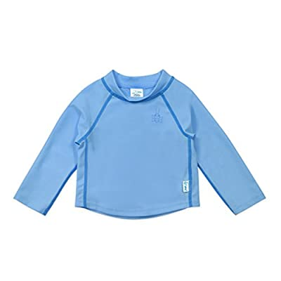 i play. by green sprouts unisex-baby Long Sleeve Rashguard | All-day UPF 50+ sun protection—wet or dry,Light Blue,6 mo