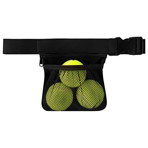 Nebudo Tennis Ball Band Holder Pickleball Tennis Balls Pickleballs Holding Accessory for Women Skirt Men Waist Hip Bags Accessories Pouch Sack Pickle Ball Bag Carrier Gadgets Gear Band Travel Pocket