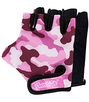 Kids Bike Gloves for Balanced Bike Mountain Bicycle Biking I Breathable Fingerless Toddler Kids Cycling Gloves with Extra Protective Cushions  Pink Camo Medium  4-8 Years