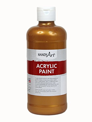 Handy Art 101-163 Student Acrylic Paint 16 ounce, Metallic Treasure Gold