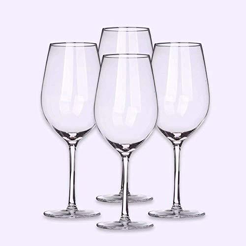 Geavanceerd laser koudsnijproces Bourgogne wijnglas set van 4 voor feesten, Independence Day, Halloween, Kerstmis of andere speciale gelegenheden. Geen brand.