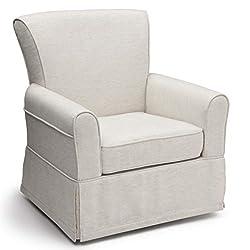 professional Delta Children's Swivel Rocking Chair, Soft, Sand