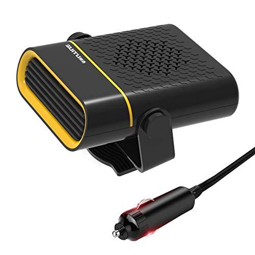 wenhe Calentador de coche 2 en 1, potente calentador de vehículo para un calentamiento rápido y desempañador