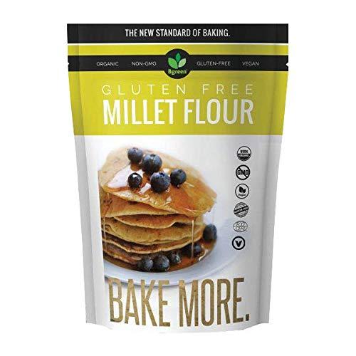 (2 Packs) Bgreen Organic Gluten Free Millet Flour Organic/NON-GMO/VEGAN (USDA Organic) 2 Lbs