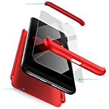 Jardire Compatibile Cover MEIZU M3 Note + Dare 2 Serie di Temperato Screen Protector Film,Custodia MEIZU M3 Note 3 en 1 Desmontable 360° Full Body Anti-Scratch Antiscivolo MEIZU M3 Note-Rosso
