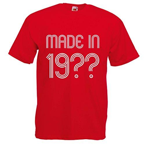Printmeashirt Herren T-Shirt Rot Rosso XXL