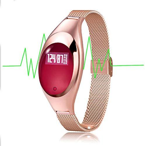 Reloj Inteligente para Mujer,Z18 Smartwatch Rastreador de Ejercicios Pulsera,Monitor de Resión Arterial Pulso Cardiaco Oxígeno Podómetro Pulsera Inteligente Monitor Actividad Ejercicio Deporte