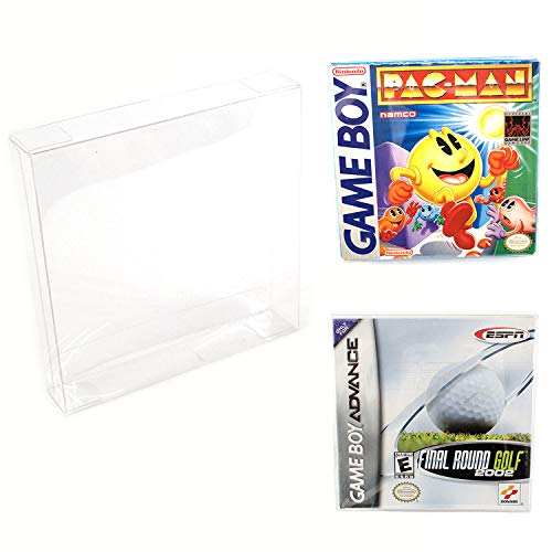 Viturio Game Boy & Advance Game Box Protector Cases (10 Pack) Clear Plastic .35mm