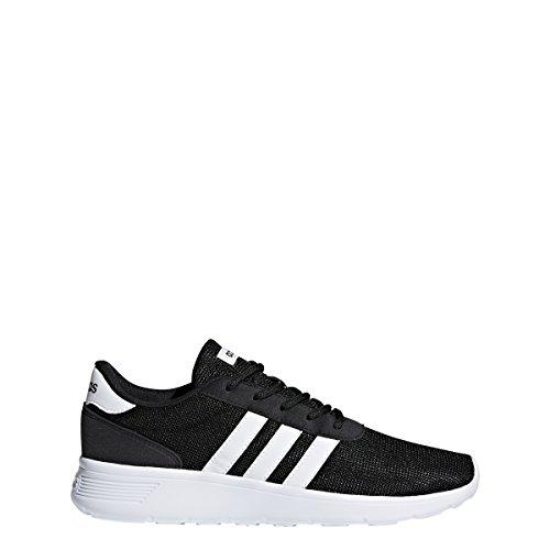 adidas Women's Lite Racer Sneaker, Black/White/White, 7.5 M US