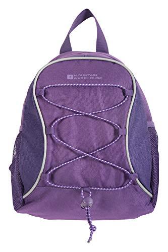 Mountain Warehouse Walklet 6L Rucksack - Reflective Details Casual Daypacks, Bottle Pockets Backpack, Bungee Cords Bag, Shoulder Straps - Best for Picnics, Outdoors Dark Purple