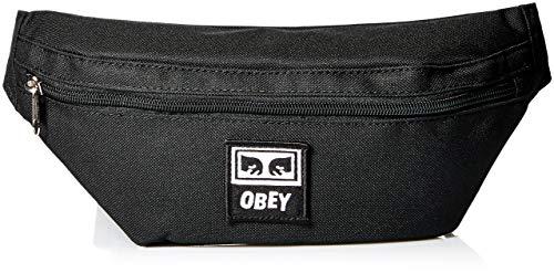 Obey 100010100 - Riñonera de sintético Hombre Negro negro talla única
