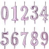 Feelairy 10 Piezas Números de Velas de Pastel Cumpleaños, Número de...