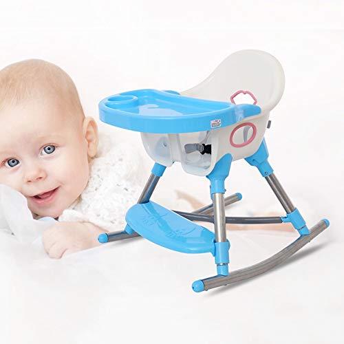 Swttppy Los niños pequeños infantes de alimentación del asiento Niños tabla de cena Trona silla del bebé Booster Silla de niños que comen Mesa plegable portable bandeja extraíble bebés asiento ajustab