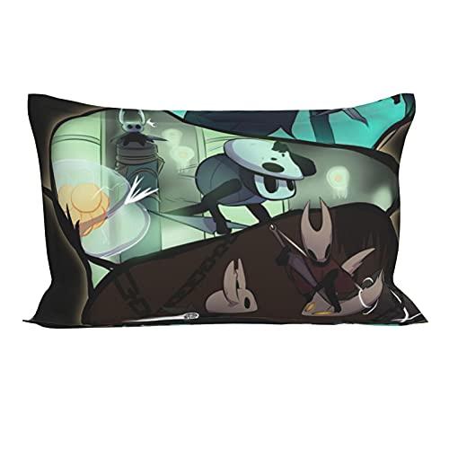 Funda de almohada de anima de caballero hueco, funda de almohada suave, impresión 3D, diseño de dibujos animados, decoración de cama de 50,8 x 76,2 cm.