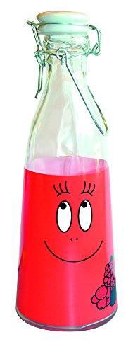 Barbapapa - grote retro glazen melkkan - Barbawum rood. Verpakt in een stevige geschenkdoos!