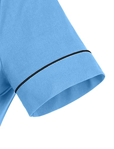 GownTown Women's 1950sVintage Classical Casual Swing A-line Dress Light Blue