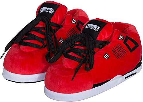 Coucharmy Jay Four Hausschuhe Home Sneakers (S-XL) (M=40-42, Red/Black)