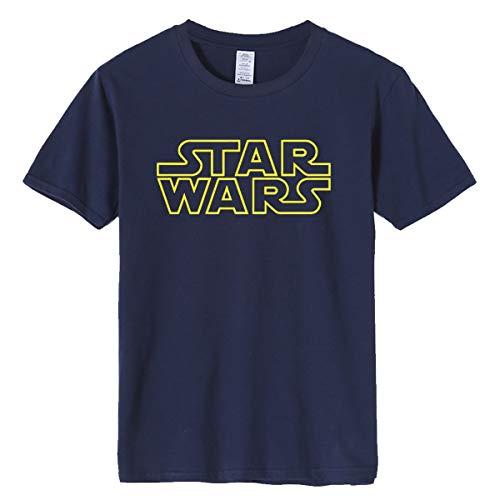 ZJDECR Explosion Models Primavera y Verano Hombres Cuello Redondo Camisas Star Wars AliExpress Europa y los Estados Unidos Tide Camiseta para hombre de media manga, azul marino, xxx-large