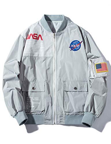 Wildswan MA-1 NASA Military Flight Jacket Biker Zipper Jacket Coat Autumn Winter B4034B-M