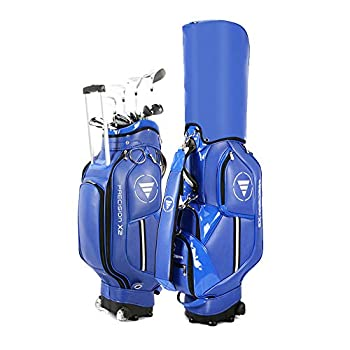 Portable Golf Club Bags with Wheels Pu Waterproof and Lightweight Golf Club Cart BagsSunday Bag Can Hold 14 Clubs Shoe Bag and Umbrella Stand,Men and Women Golf Club Carry Bags