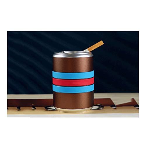 Cenicero de cigarrillos Cenicero Barril ronda de cigarrillos cenicero, cenicero del coche de aleación de aluminio, bandeja de ceniza de mesa for uso en interiores o al aire libre, for Office / Home De