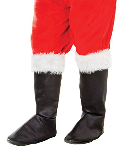 Santa Boot Tops. Fabric Deluxe/Fur Top