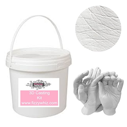 3D Extra Large Casting Kit - Holding Hands Family Moulding Powder Paint Tools Plaster Mixing Bucket (Set 4 - Bronze Paint)