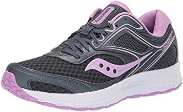 Saucony Women's VERSAFOAM Cohesion 12 Road Running Shoe, Slate/Violet, 8.5 M US