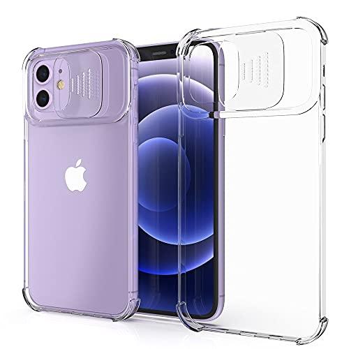 XTCASE Funda para iPhone 11, Protección de la Cámara Transparente Carcasa Cubierta de Cámara Deslizante Proteger Ultra-Fina Híbrida PC + TPU Anti-Choque Anti-arañazos