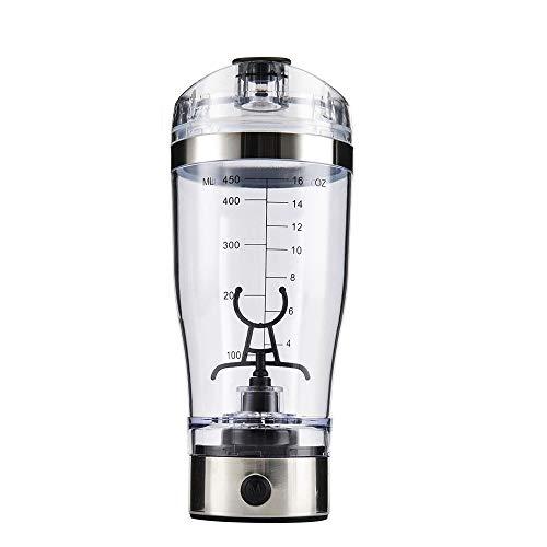 Elektrischer Eiweiß Shaker Mixbecher Protein Shaker Selbstrührender Trinkbecher BPA-frei Sports Drink Mixer Elektro Blender Tragbar Standmixer Proteinshake Vortex Mixer 450 ml für Säfte Cocktails